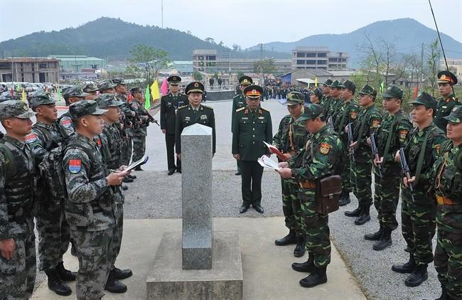 Lực lượng biên phòng Việt Nam và Trung Quốc thực hiện tuần tra chung