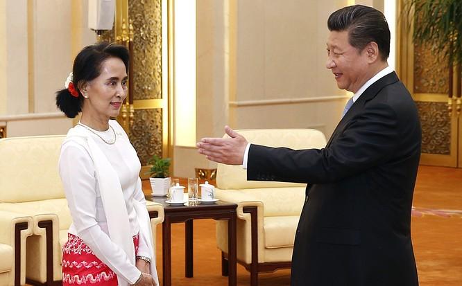 Bà San Suu Kyi vừa có chuyến thăm Trung Quốc