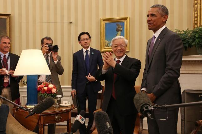 Ông Obama tiếp đón Tổng Bí thư Nguyễn Phú Trọng tại Nhà Trắng