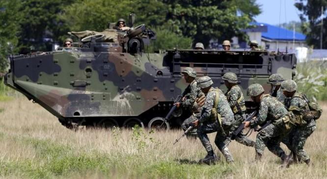 Không biết Mỹ và Philippines có còn duy trì các cuộc tập trận chung sau khi ông Duterte điều chỉnh chính sách đối ngoại