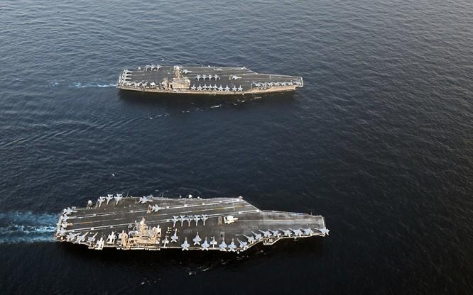 Mỹ có kế hoạch triển khia thường trực hai cụm tác chiến tàu sân bay do tình hình phức tạp ở Tây Thái Bình Dương