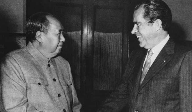 Tổng thống Nixon gặp chủ tịch Trung Quốc Mao Trạch Đông năm 1972 với chiến dịch
