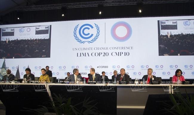 Hội nghị Liên hợp quốc về biến đổi khí hậu lần thứ 20 (COP – 20) tại Lima (Peru). Ảnh:THX/TTXVN