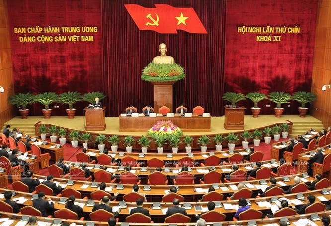 Hội nghị lần thứ 9 Ban Chấp hành Trung ương Đảng Khóa XI. Ảnh: Trí Dũng – TTXVN
