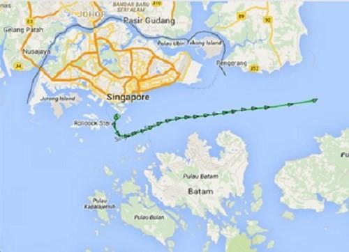Tàu ngầm Kilo Hải Phòng rời Singapore lên đường về Cam Ranh ảnh 1
