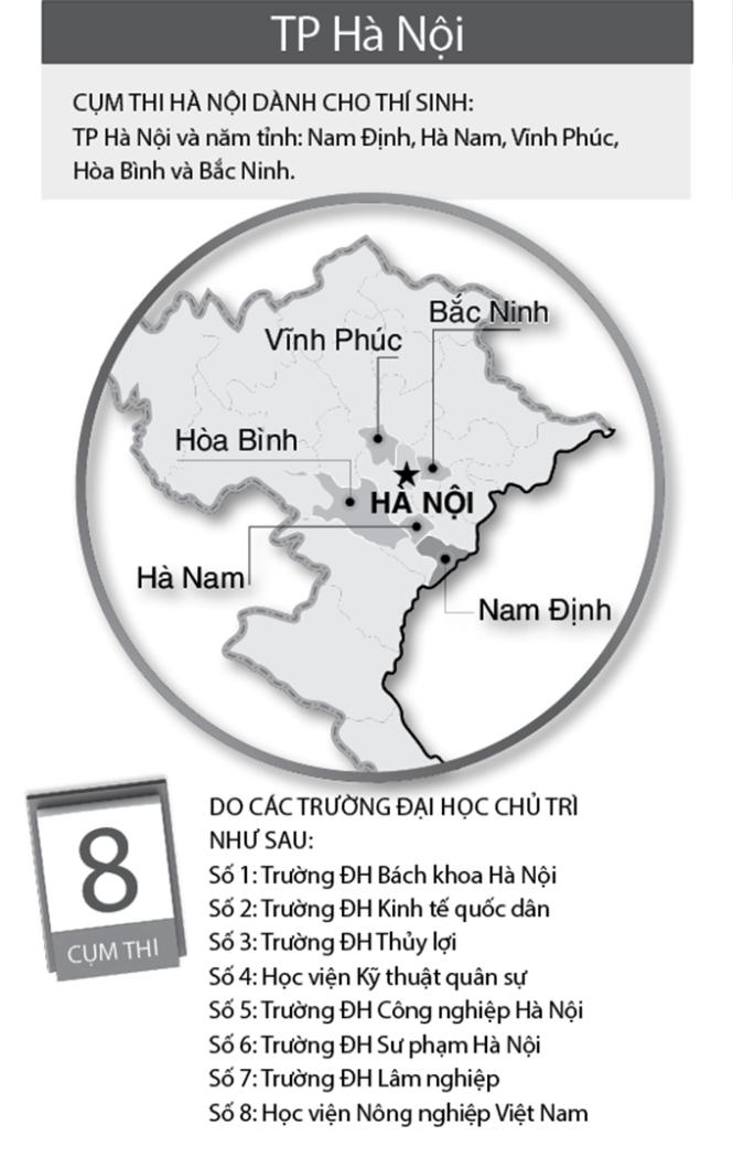 Công bố 38 cụm thi THPT quốc gia 2015 ảnh 1