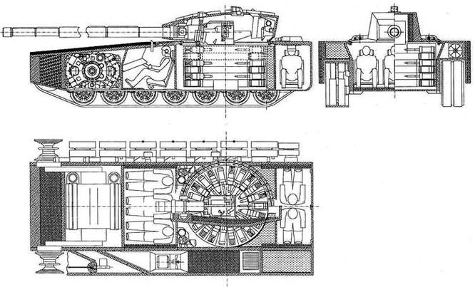 """Dự đoán những đặc điểm của xe tăng bí mật thế hệ 4 """"Armata"""" T -14 ảnh 3"""