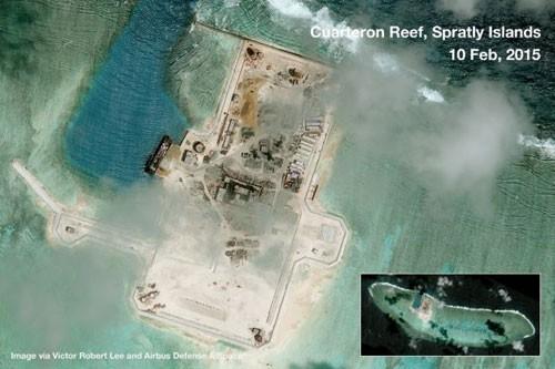 Báo Philippines đăng ảnh TQ cải tạo bãi đá ở Trường Sa ảnh 8