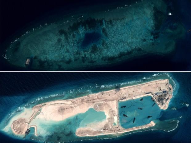 """Những bức ảnh vệ tinh tố cáo âm mưu sử dụng """"đảo nhân tạo"""" của Trung Quốc ảnh 4"""