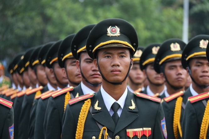 Hàng nghìn chiến sĩ hợp diễu binh dưới nắng gắt Sài Gòn ảnh 15