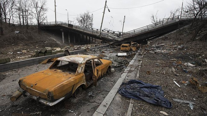 Cận cảnh xung đột Ukraine: một năm thảm họa ảnh 92
