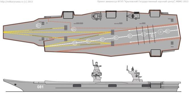 """Nga: siêu tàu sân bay – khu trục hạm dự án 23000E """"Storm"""" hoàn thành thiết kế ảnh 3"""