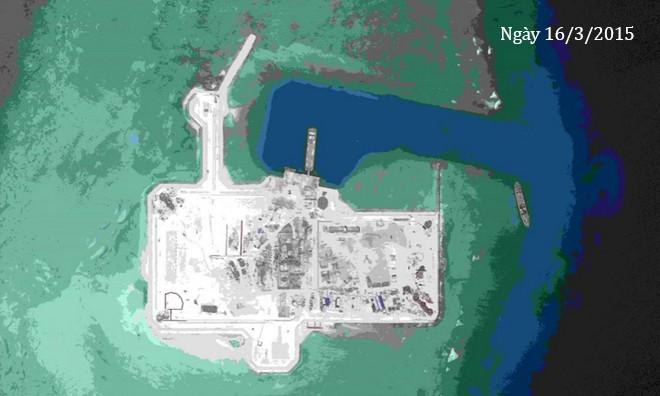 Thực trạng 7 bãi đá Trung Quốc cải tạo ở Trường Sa qua ảnh vệ tinh ảnh 1