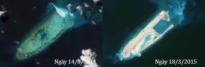 Thực trạng 7 bãi đá Trung Quốc cải tạo ở Trường Sa qua ảnh vệ tinh ảnh 2