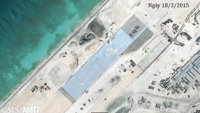Thực trạng 7 bãi đá Trung Quốc cải tạo ở Trường Sa qua ảnh vệ tinh ảnh 3
