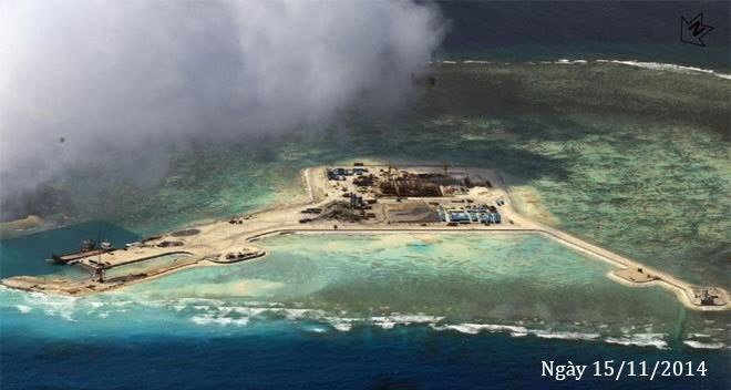 Thực trạng 7 bãi đá Trung Quốc cải tạo ở Trường Sa qua ảnh vệ tinh ảnh 5