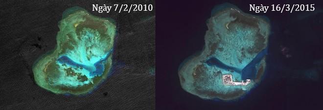 Thực trạng 7 bãi đá Trung Quốc cải tạo ở Trường Sa qua ảnh vệ tinh ảnh 6