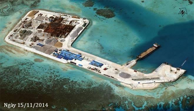 Thực trạng 7 bãi đá Trung Quốc cải tạo ở Trường Sa qua ảnh vệ tinh ảnh 7