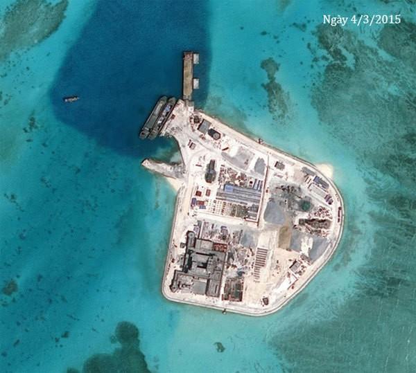 Thực trạng 7 bãi đá Trung Quốc cải tạo ở Trường Sa qua ảnh vệ tinh ảnh 9