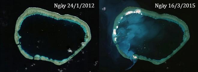 Thực trạng 7 bãi đá Trung Quốc cải tạo ở Trường Sa qua ảnh vệ tinh ảnh 10