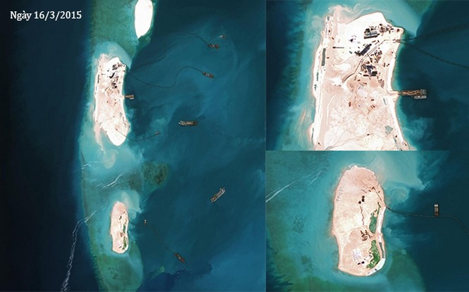 Thực trạng 7 bãi đá Trung Quốc cải tạo ở Trường Sa qua ảnh vệ tinh ảnh 11