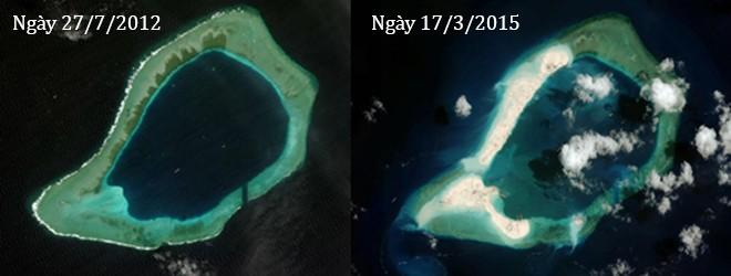 Thực trạng 7 bãi đá Trung Quốc cải tạo ở Trường Sa qua ảnh vệ tinh ảnh 12