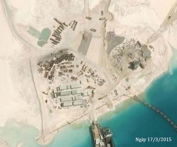 Thực trạng 7 bãi đá Trung Quốc cải tạo ở Trường Sa qua ảnh vệ tinh ảnh 13