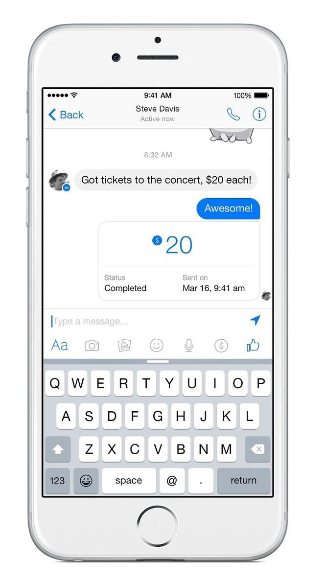 Facebook Messenger bắt đầu cho phép người dùng chuyển tiền cho bạn bè ảnh 3