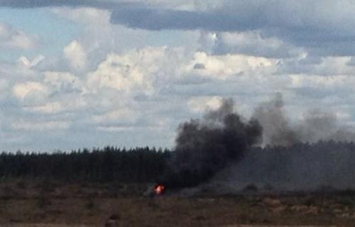Trực thăng Mi-28 của Nga rơi khi đang tham gia cuộc thi Aviadarts ảnh 1