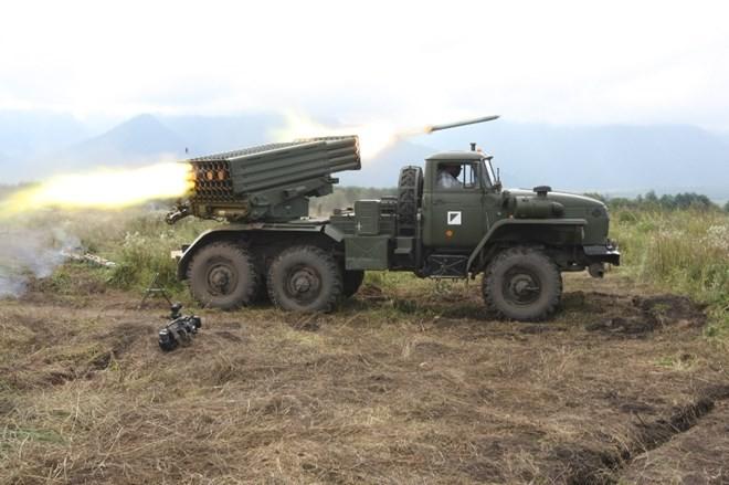 """Uy lực khủng khiếp của pháo phản lực bắn loạt """"Tornado - G"""" ảnh 2"""