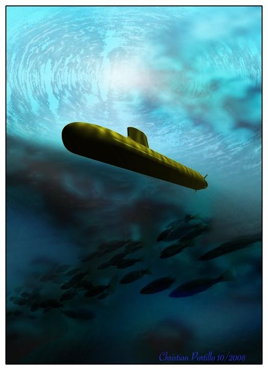 Tàu ngầm dưới con mắt họa sĩ ảnh 5