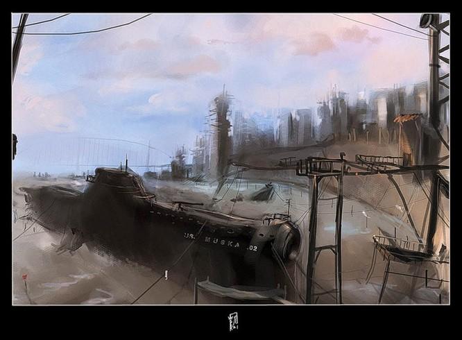 Tàu ngầm dưới con mắt họa sĩ ảnh 9