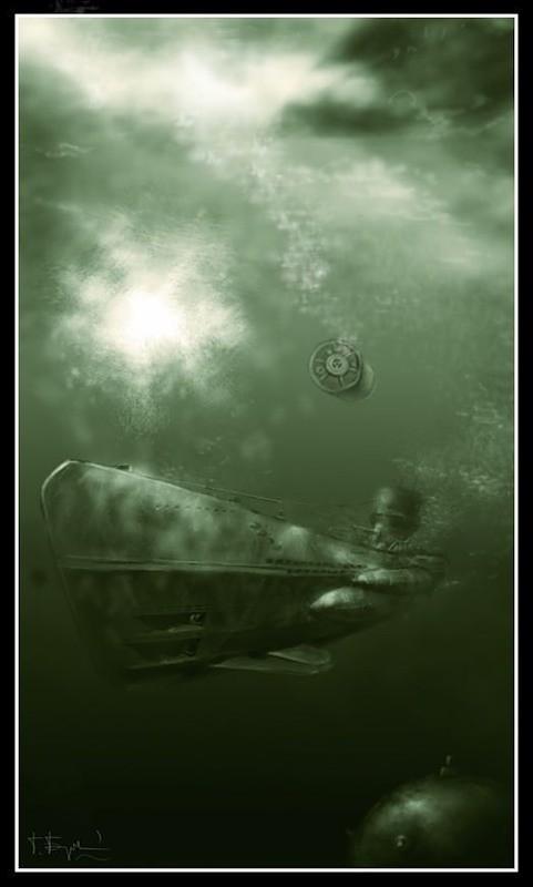 Tàu ngầm dưới con mắt họa sĩ ảnh 13