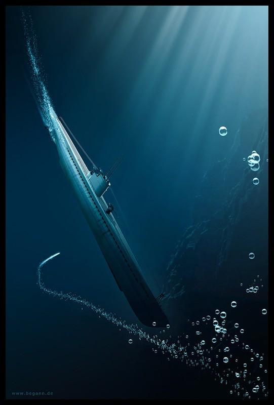 Tàu ngầm dưới con mắt họa sĩ ảnh 14