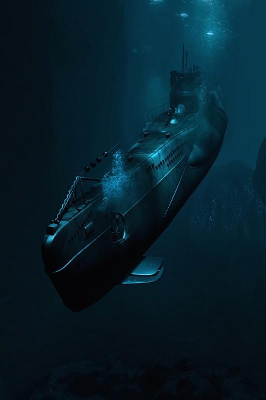 Tàu ngầm dưới con mắt họa sĩ ảnh 19