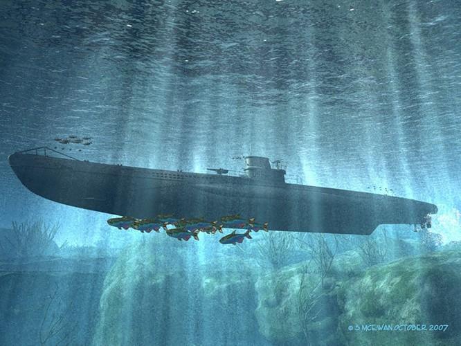 Tàu ngầm dưới con mắt họa sĩ ảnh 27