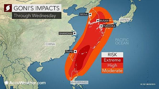 Siêu bão Goni đổ bộ Philippines ảnh 1
