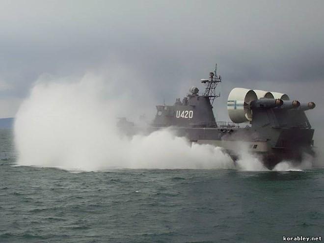 """Lướt trên sóng đại dương - tàu đổ bộ đệm khí Bò rừng """"Zubr"""" ảnh 4"""