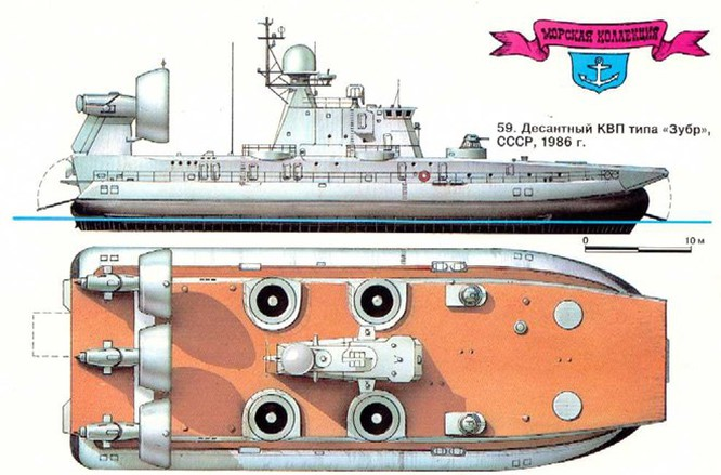 """Lướt trên sóng đại dương - tàu đổ bộ đệm khí Bò rừng """"Zubr"""" ảnh 1"""