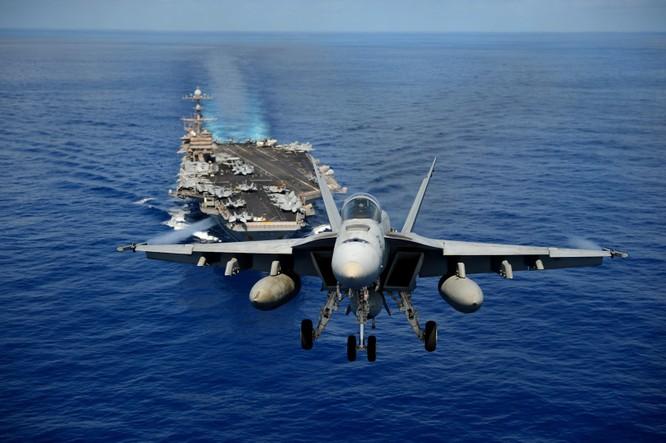 Tàu sân bay và các phi đội máy bay chiến đấu, máy bay trinh sát, cảnh báo sớm của Mỹ