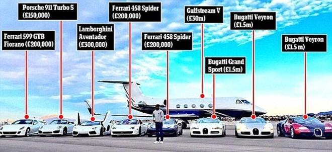 """Võ sĩ """"Độc cô cầu bại"""" đi du lịch vác cả triệu đô, khoe dàn xe siêu khủng ảnh 11"""