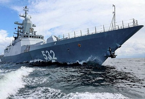Chùm ảnh mãn nhãn về tàu hộ tống hiện đại nhất của Nga ảnh 1