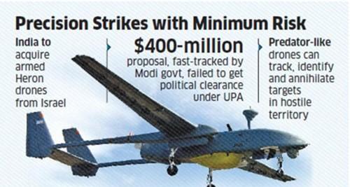 Ấn Độ chi 400 triệu USD mua 10 UAV Heron TP có gắn tên lửa của Israel ảnh 1