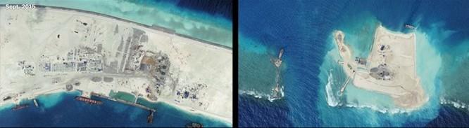 Trước khi Tập Cận Bình thăm Mỹ, Trung Quốc xây đường băng thứ ba ở Biển Đông ảnh 1
