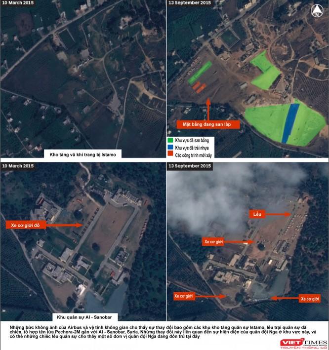 Mỹ công bố hình ảnh mới về Nga đổ xe tăng, chiến đấu cơ tới Syria ảnh 1