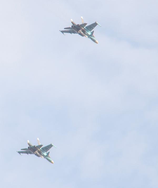 """Nóng: Nga lần đầu tiên điều """"Thú mỏ vịt"""" Su-34 đến Syria ảnh 1"""