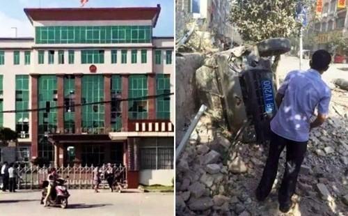 Bom nổ liên tiếp 17 địa điểm tại Trung Quốc, nhiều tòa nhà sập ảnh 21