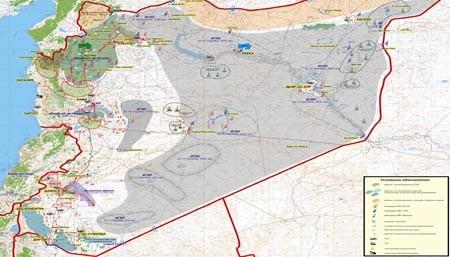 Nga công bố bản đồ tác chiến đánh khủng bố Syria ảnh 1