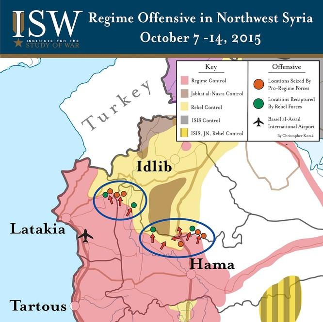 Nga công bố bản đồ tác chiến đánh khủng bố Syria ảnh 8