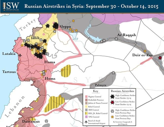 Nga công bố bản đồ tác chiến đánh khủng bố Syria ảnh 9